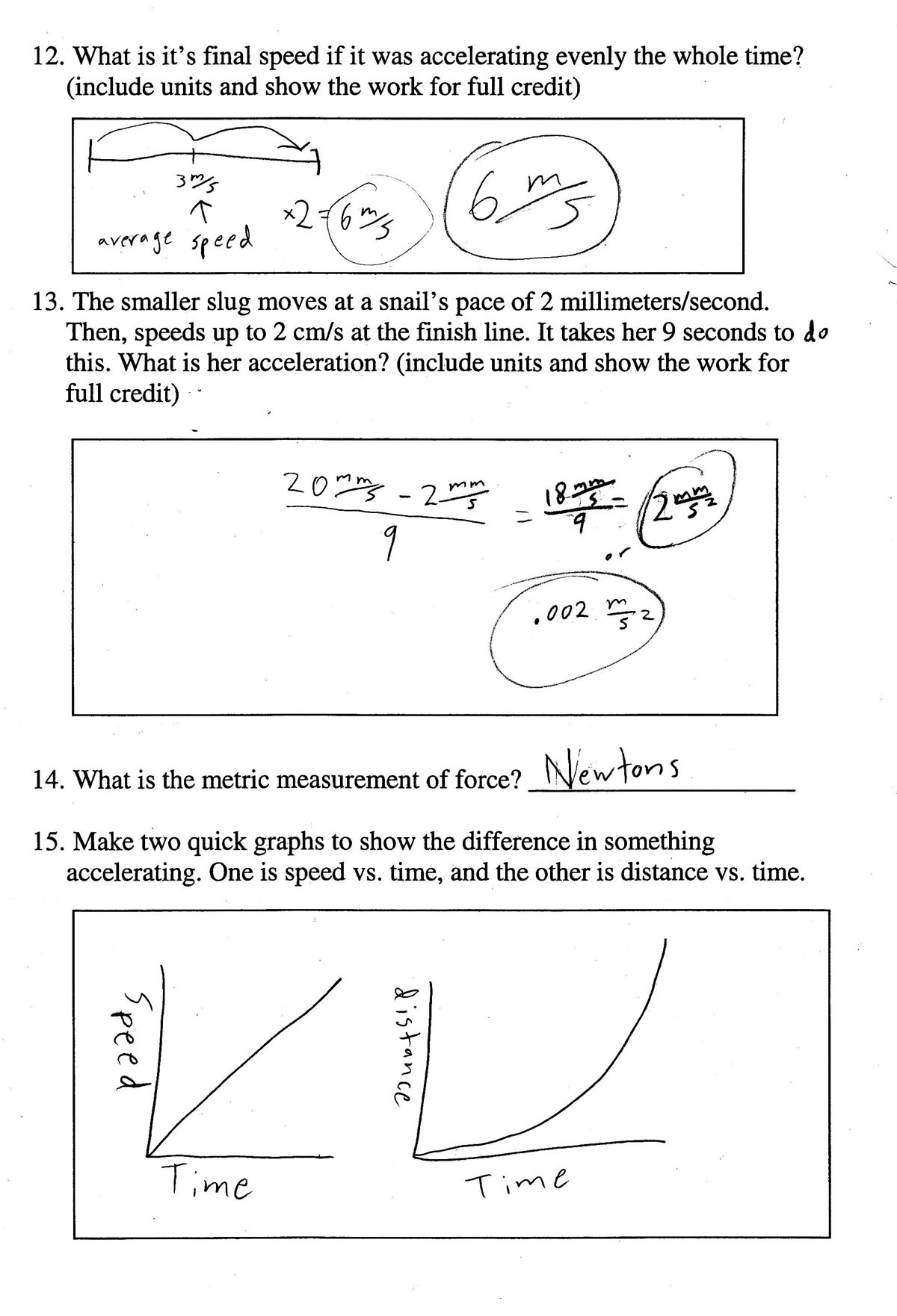 8th grade science study guide for final exam