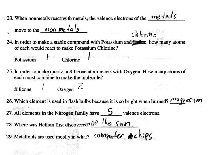 2007 3rd quarter assignments 6th grade physical science atoms periodic table quiz p4 urtaz Image collections